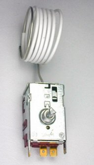 Freezer thermostat for air and water-cooled systems, no cover
