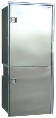 Isotherm Cruise 195 Fridge/Freezer Stainless Steel RH DC only Right Swing
