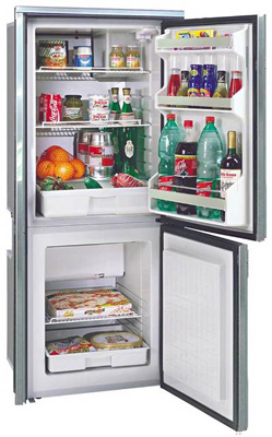 Isotherm Cruise 195 Fridge/Freezer Black Door AC/DC Right Swing