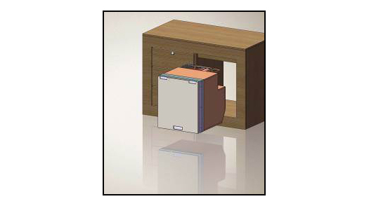 Isotherm Drawer 65 with special brackets for wood panel [IM